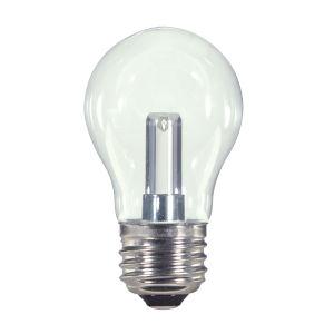 SATCO Clear LED A15 Medium 1.4 Watt Type A Bulb with 2700K 36 Lumens 80 CRI and 360 Degrees Beam