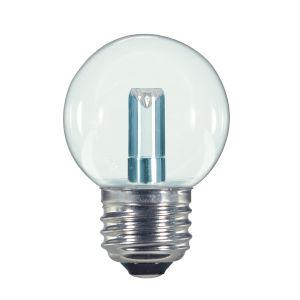 SATCO Clear LED G16 1/2 1.4 Watt LED Globe Light Bulb with 2700K 36 Lumens 80 CRI and 360 Degrees Beam