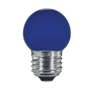 SATCO Ceramic Blue LED S11 Medium 1.2 Watt Sign and Indicator Bulb with K Lumens CRI and 360 Degrees Beam