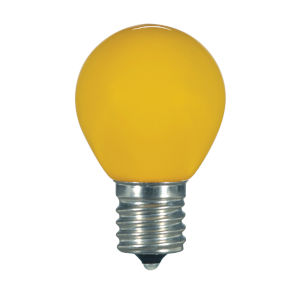 SATCO Ceramic Yellow LED S11 Medium 1.2 Watt Sign and Indicator Bulb with K Lumens CRI and 360 Degrees Beam