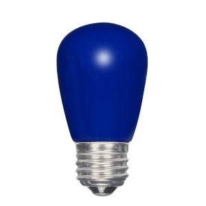 SATCO Ceramic Blue LED S14 Medium 1.4 Watt Sign and Indicator Bulb with K Lumens CRI and 360 Degrees Beam