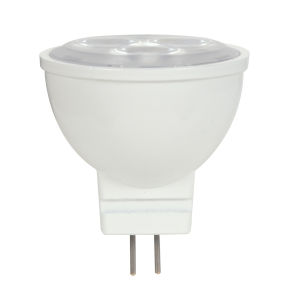 SATCO LED MR11 Bi 3 Watt MR LED Bulb with 2700K 210 Lumens 80 CRI and 25 Degrees Beam 12 Volt