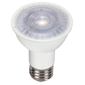 SATCO LED PAR16 Medium 6.5 Watt PAR LED Bulb with 3000K 500 Lumens 80 CRI and 40 Degrees Beam