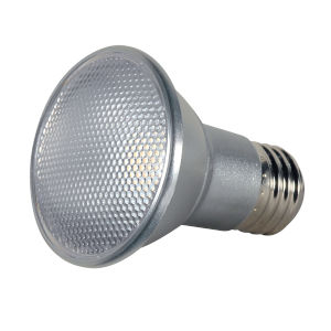 SATCO Clear LED PAR20 Medium 7 Watt PAR LED Bulb with 2700K 525 Lumens 80 CRI and 25 Degrees Beam