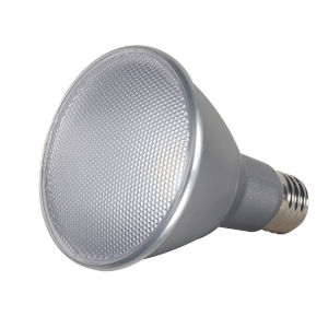 SATCO Clear LED PAR30LN Medium 13 Watt PAR LED Bulb with 3500K 1000 Lumens 80 CRI and 40 Degrees Beam