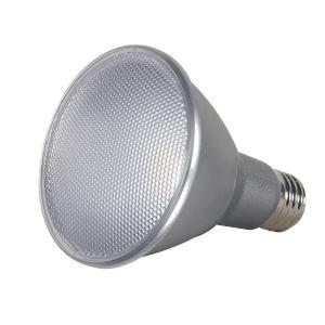 SATCO Clear LED PAR30LN Medium 13 Watt PAR LED Bulb with 2700K 1000 Lumens 80 CRI and 60 Degrees Beam