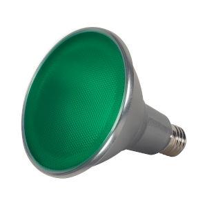 SATCO Green LED PAR38 Medium 15 Watt PAR LED Bulb with K Lumens CRI and 40 Degrees Beam