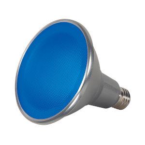 SATCO Blue LED PAR38 Medium 15 Watt PAR LED Bulb with K Lumens CRI and 40 Degrees Beam