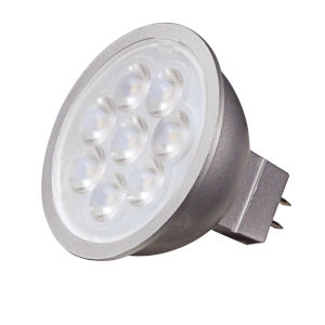 SATCO Silver Back LED MR16 GU5.3 6.5 Watt MR LED Bulb with 3500K 500 Lumens 80 CRI and 25 Degrees Beam 12 Volt