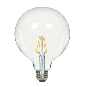 SATCO Clear LED G40 Medium 4.5 Watt LED Filament Bulb with 2700K 450 Lumens 80 CRI and 360 Degrees Beam
