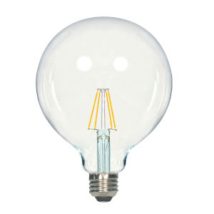 SATCO Clear LED G40 Medium 6.5 Watt LED Filament Bulb with 2700K 810 Lumens 80 CRI and 360 Degrees Beam