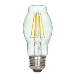 SATCO Clear LED BT15 Medium 6.5 Watt LED Filament Bulb with 2700K 810 Lumens 80 CRI and 360 Degrees Beam