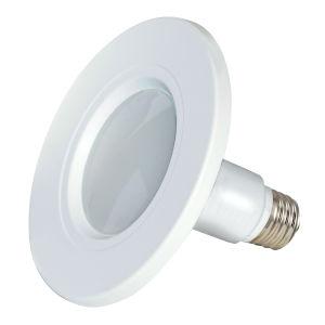 SATCO Frosted White LED Medium LED 8.5 Watt Fixture RetroFit Bulb with 2700K 510 Lumens 80+ CRI and 115 Degrees Beam