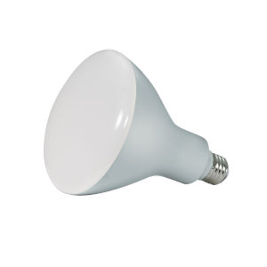 SATCO Frosted White LED BR40 Medium 16.5 Watt BR LED Bulb with 2700K 1075 Lumens 90+ CRI and 103 Degrees Beam