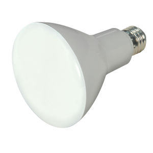 SATCO Frosted White LED BR30 Medium 9.5 Watt BR LED Bulb with 2700K 650 Lumens 90+ CRI and 105 Degrees Beam