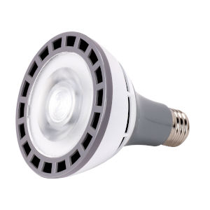 SATCO LED PAR30LN Medium 12 Watt PAR LED Bulb with 3000K 1200 Lumens 83 CRI and 25 Degrees Beam