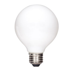 SATCO Soft White LED G25 Medium 4.5 Watt LED Globe Light Bulb with 2700K 430 Lumens 80 CRI and 360 Degrees Beam
