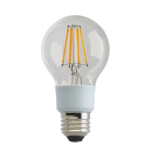 SATCO Clear LED A19 Medium 9 Watt LED Filament Bulb with 3000K 1100 Lumens 80 CRI and 360 Degrees Beam