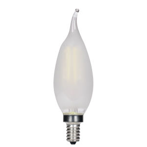 SATCO Frosted LED CA11 Candelabra 3.5 Watt LED Filament Bulb with 2700K 350 Lumens 80 CRI and 360 Degrees Beam