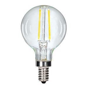 SATCO Clear LED G16 1/2 2.5 Watt LED Filament Bulb with 2700K 200 Lumens 80 CRI and 360 Degrees Beam