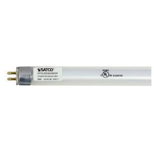 SATCO Gloss White LED T5 Miniature 25 Watt LED T5 Bulb with 5000K 3500 Lumens 82 CRI and 185 Degrees Beam