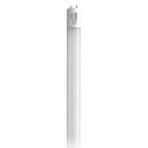 SATCO Gloss White LED T8 Medium 11.5 Watt LED T8 Bulb with 5000K 1800 Lumens 82 CRI and 220 Degrees Beam