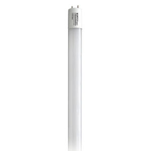 SATCO Gloss White LED T8 Medium 8 Watt LED T8 Bulb with 3500K 1200 Lumens 82 CRI and 220 Degrees Beam