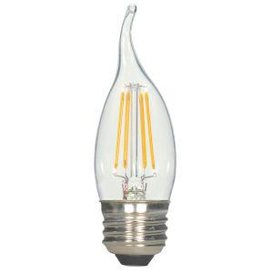 SATCO Clear LED CA11 Medium 5.5 Watt LED Filament Bulb with 2700K 500 Lumens 80 CRI and 360 Degrees Beam