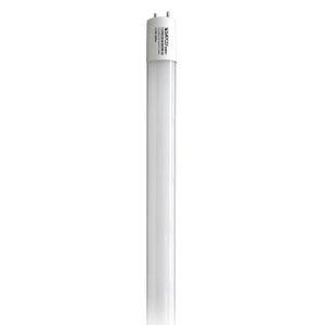 SATCO Gloss White LED T8 Medium 10.5 Watt LED T8 Bulb with 3500K 1400 Lumens 82 CRI and 220 Degrees Beam