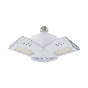 White 4000K Medium Base Adjustable Beam Angle LED Utility Light Bulb