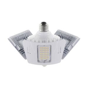 White 4000K Medium Base Adjustable Beam Angle Motion Sensor Utility LED Bulb