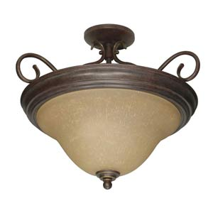 Castillo Sonoma Bronze Semi-Flush Ceiling Light
