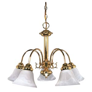 Ballerina Polished Brass Five-Light Chandelier