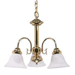 Ballerina Polished Brass Three-Light Chandelier