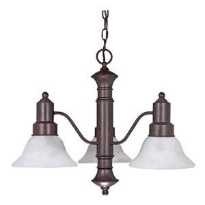 Gotham Old Bronze Three-Light Chandelier