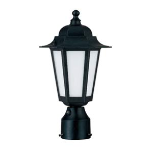 Cornerstone Textured Black Energy Star Outdoor Post Light