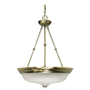 Large Antique Brass Bowl Pendant