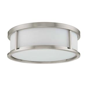 Odeon Brushed Nickel Flush Mount Ceiling Light