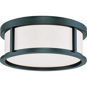 Odeon Aged Bronze Two-Light Flush Mount