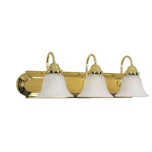 Ballerina Polished Brass Three-Light Bath Fixture