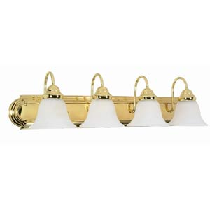 Ballerina Polished Brass Four-Light Bath Fixture