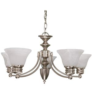 Empire Brushed Nickel Six-Light Chandelier