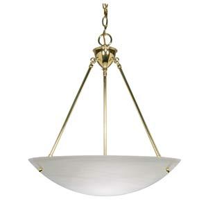 Polished Brass Bowl Pendant