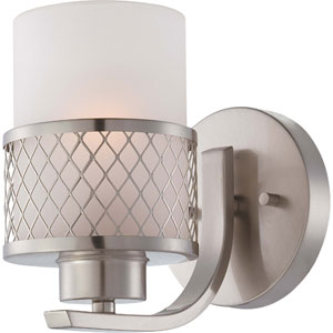 Fusion Brushed Nickel Vanity Fixture w/Frosted Glass