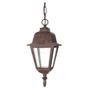 Briton Old Bronze One-Light Outdoor Pendant with Clear Glass