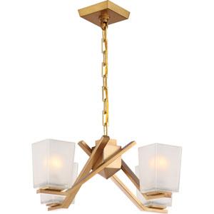 Timone Vintage Brass Four-Light Chandelier