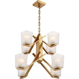 Timone Vintage Brass Eight-Light Chandelier