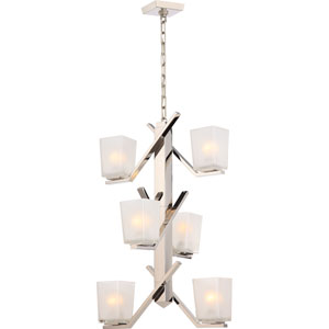 Timone Polished Nickel Six-Light Mini Chandelier