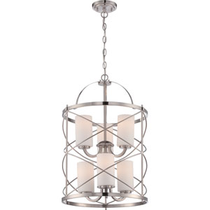 Ginger Brushed Nickel Six-Light Pendant