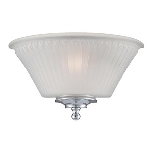 Teller Polished chrome One-Light Wall Sconce with Frosted Glass